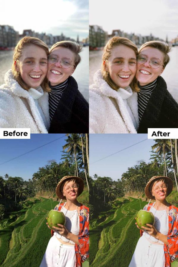 Before after portrait presets iPhone Android