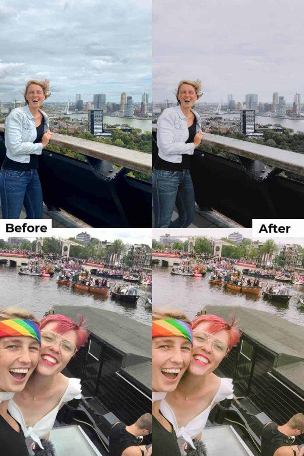 Before after portrait presets lightroom mobile
