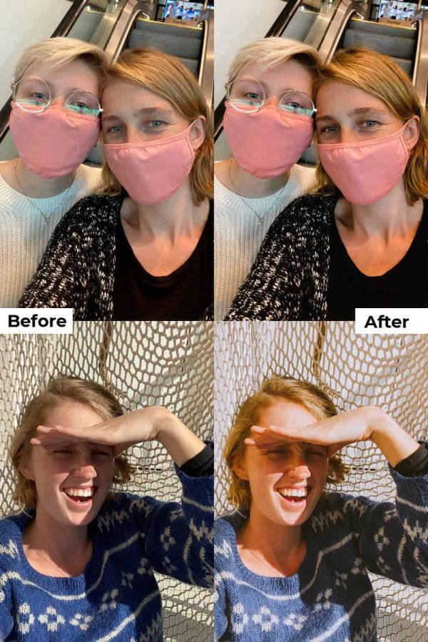 Before after portrait presets mobile
