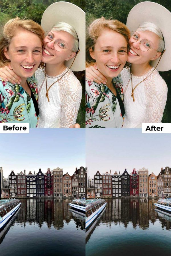 Before after vintage presets iPhone Android