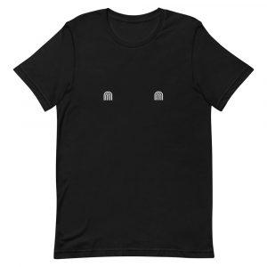 White rainbow tits shirt black